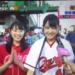 広島テレビ内で放送のテレビ派の街かど脳トレにゆみりんとみちゅが登場
